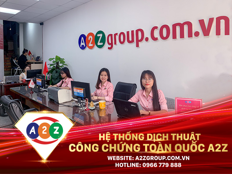 Dịch thuật công chứng tiếng Trung tại Bình Dương