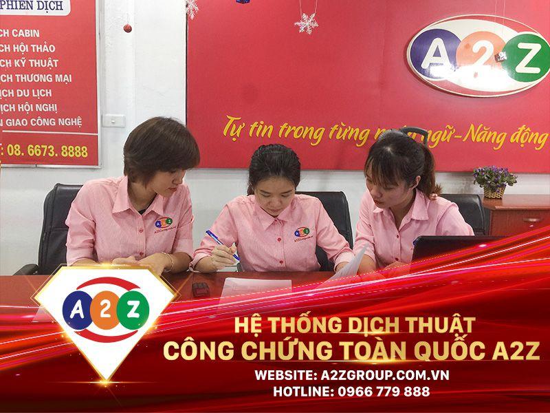 Dịch thuật công chứng tiếng Trung tại Nam Định